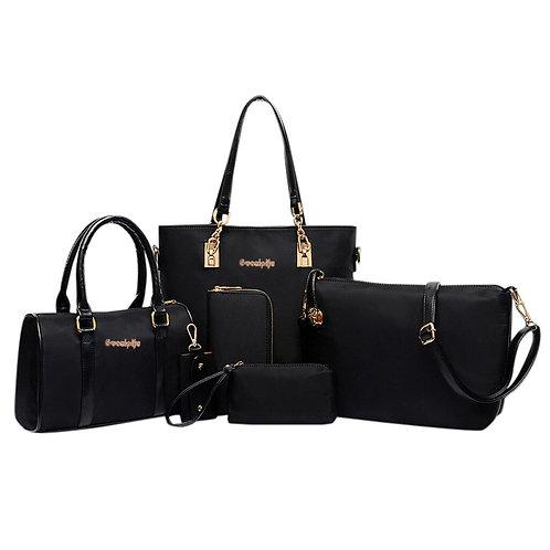 Fashion Shoulder Bag Women's Six-Piece Set