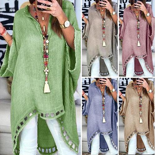 Linen Dress Plus Size Dresses 3XL 4XL Women