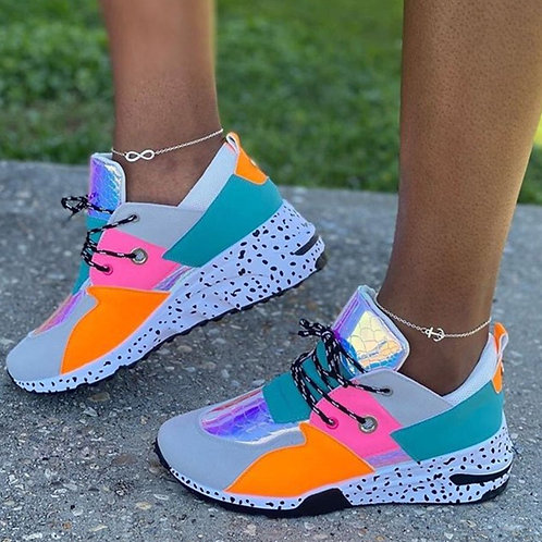 Fashion Casual Split Joint Round Sports Shoes