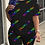 Thumbnail: Multicolor Casual Print Split Joint O Neck Short Sleeve Two Pieces