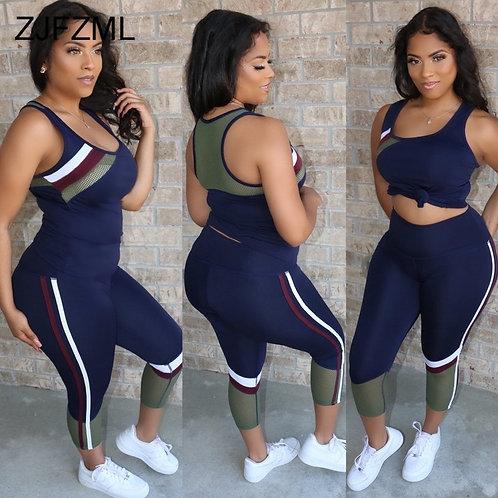 Two Piece Matching Sets Women Sheer Mesh Striped