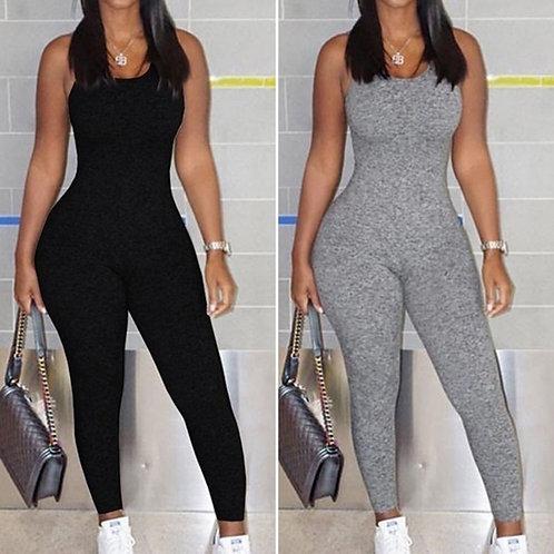 Plus Size Women's Backless Jumpsuits