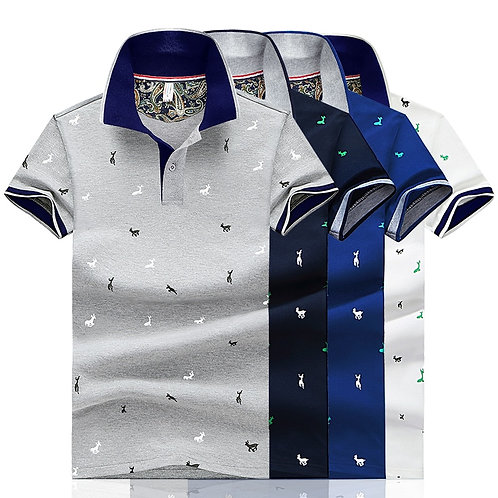 Men Polo Shirt Short Sleeve Tops