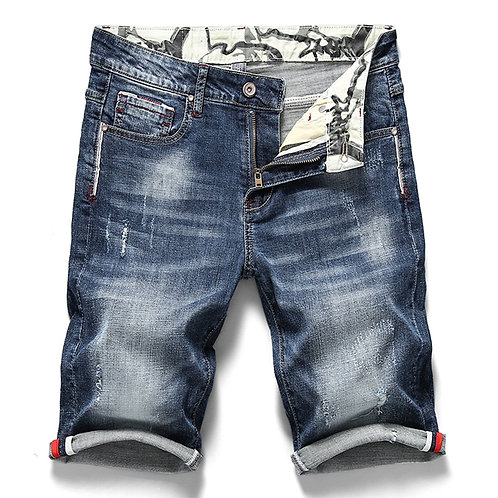 Men's Stretch Short Jeans Fashion Casual Slim Fit