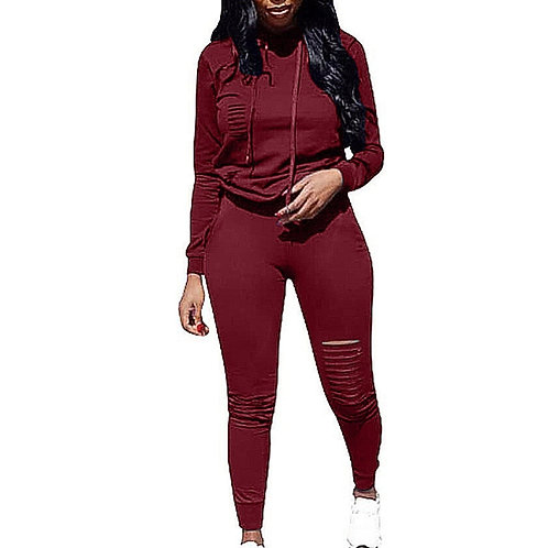 Two Piece Set Tracksuit Women Spring Sportwear Suit Hoodies 2 Piece Set