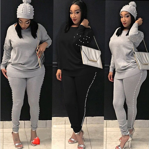 Women TWO PIECE SET Pearl Tracksuit