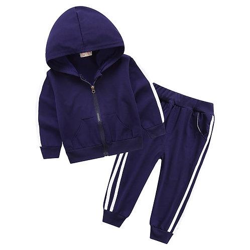Autumn Fashion Baby Girl Clothes Cotto LonZipper Jacket+pants 2pcs