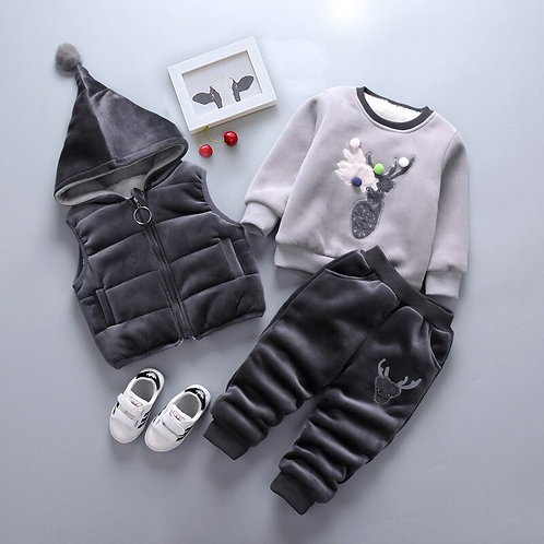 Vest Tops + T-Shirt + Pant 3PCS Childrens Infant Clothing Kids