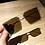Thumbnail: Fashion Transparent Square Sunglasses Metal Frame Women