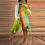 Thumbnail: Casual Color Block Off Shoulder Long Sleeve Plus Size Dress