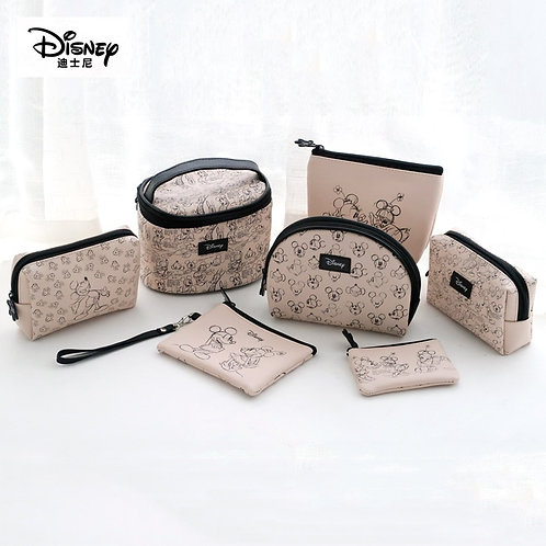 Disney Mickey Minnie Multi-Function Women Cosmetic Bags Purse Baby Care Bags