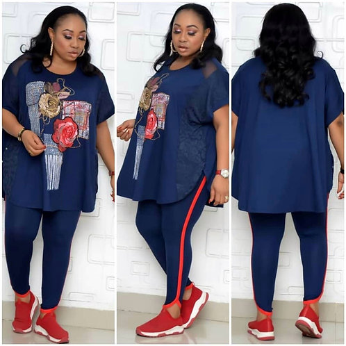 2 Two Piece Set Fashion Style African Women Printing Two Pieces Sets