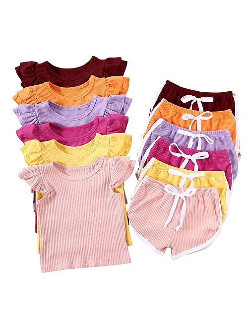 US Newborn Kid Baby Girl 12m-5t Summer Outfit Clothes Set