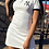 Thumbnail: Casual Print Split Joint Turndown Collar Pencil Skirt Dresses