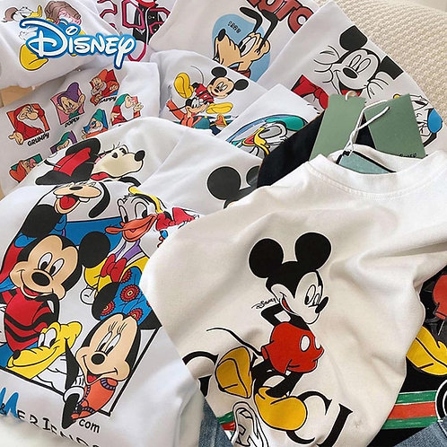T-Shirt Women Cartoon Mickey Minnie Mouse