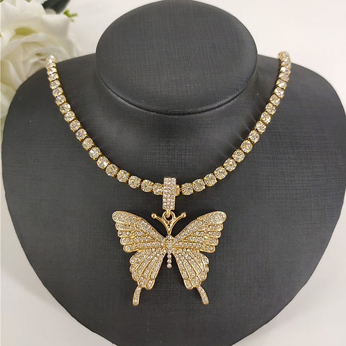 Fashion Casual Butterfly Necklace Pendant