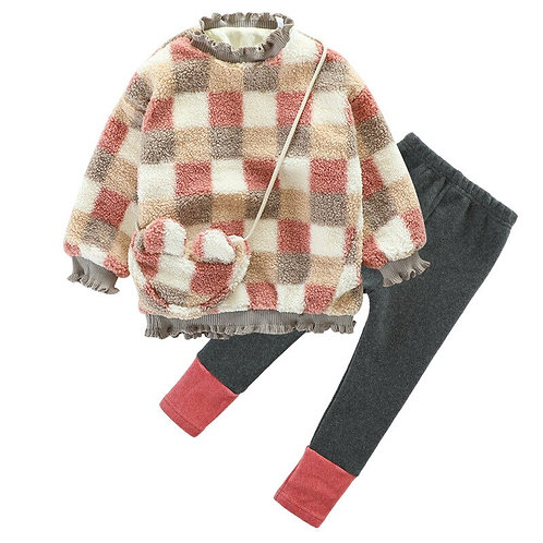 2pcs Girl Baby Winter Kids Christmas Clothes Tops Pants Outfits
