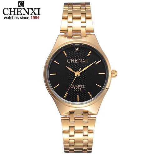 Womens Golden Watches Waterproof Casual Quartz Wristwatch