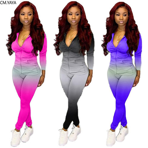 Women Tracksuit Two Piece Set Fitness Outfits