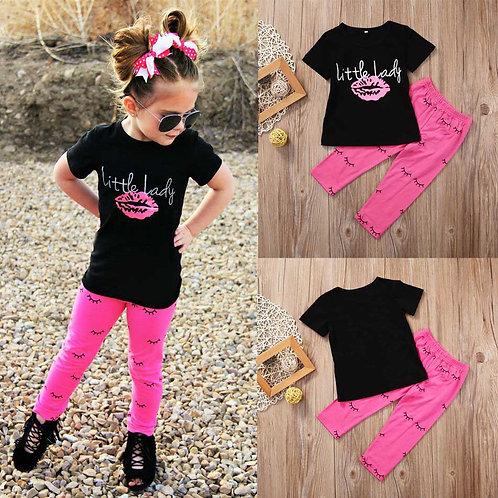 Girl Set Kid Baby Girls Outfits T-Shirt Tops +Leggings Pants Clothes Set