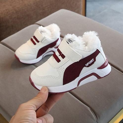 Kids Sports Shoes Children Casual Boys Plush Sneaker Anti-Slippery