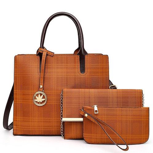 Designer Bags Women 3 Pcs/Set Bags Leather Handbag and Purse Luxury Handbags