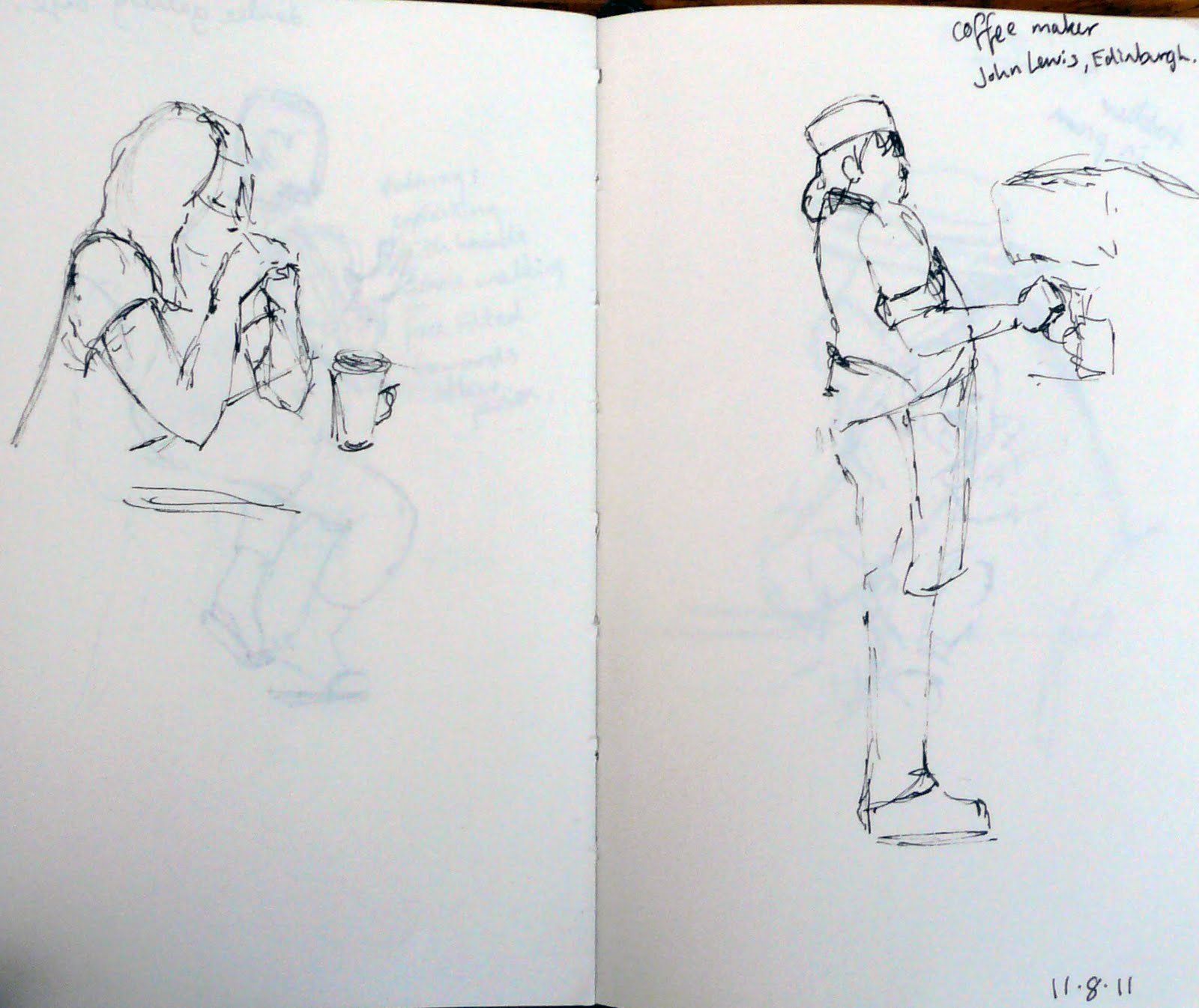 Edinburgh Cafe Sketches