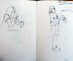 Edinburgh Cafe Sketches