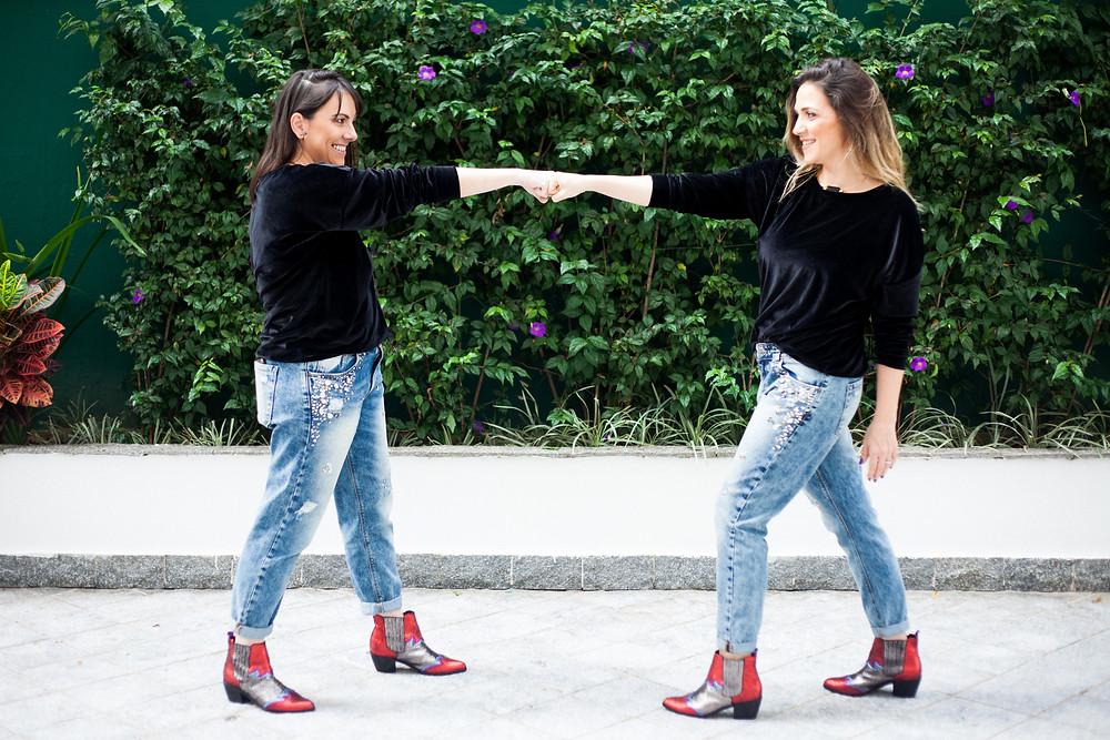 Nossas amadas calças jeans compradas online :-)