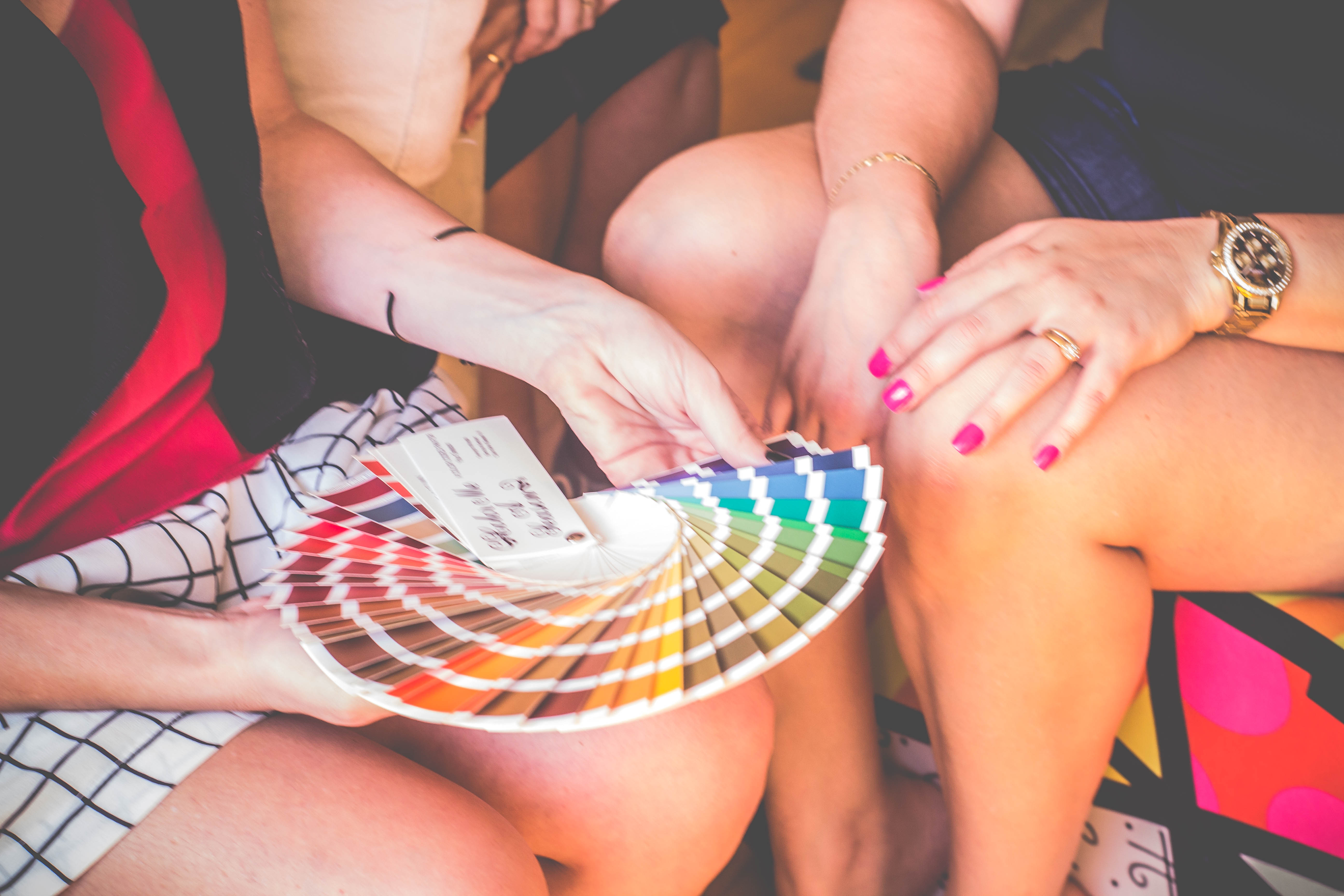 Apresentando à cliente suas cores!