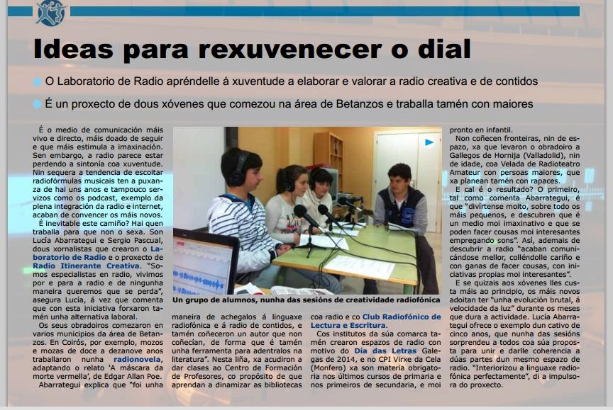 Talleres de radio Galicia