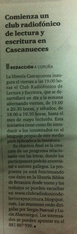 Radio y Literatura en A Coruña