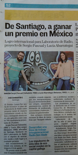 Laboratorio de Radio Premio CEMEX-TE