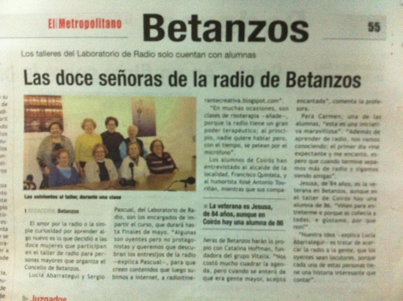 Taller de Radio en Betanzos