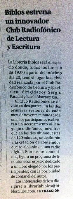 Curso Radio y Literatura en Betanzos