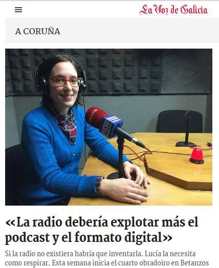 Laboratorio de Radio en La Voz