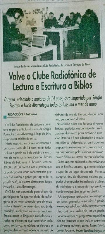 Curso de Radio y Literatura