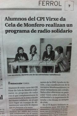 Radio en el colegio de Monfero