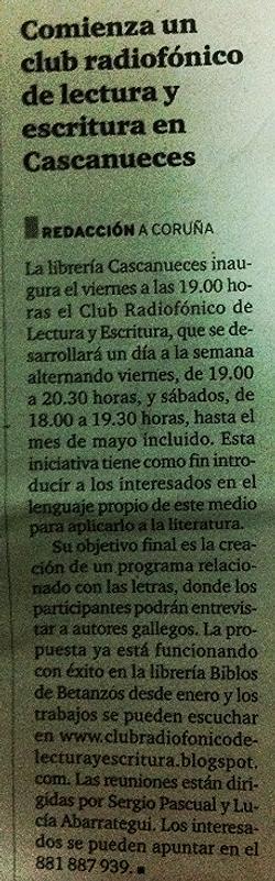 Radio y Literatura A Coruña