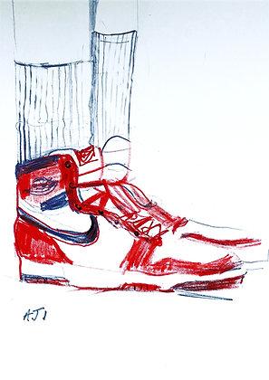 AJ1 Original hand signed sketch