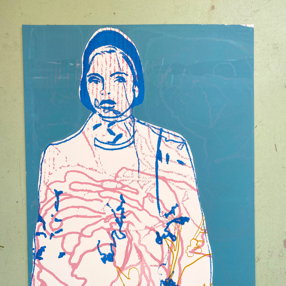 Blue Lady Screen Print 1/1