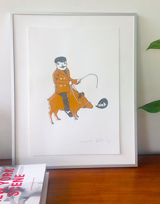 Oink Limited Edition Screen Print