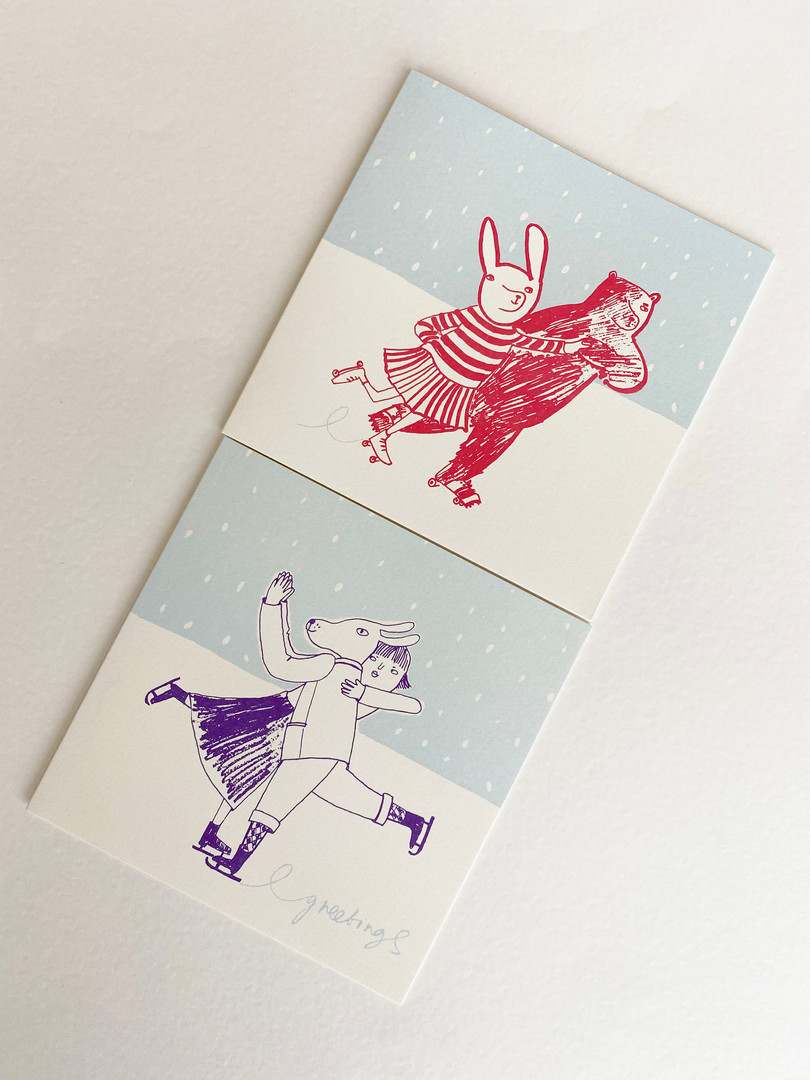 Skating Etiquette Trio of Cards