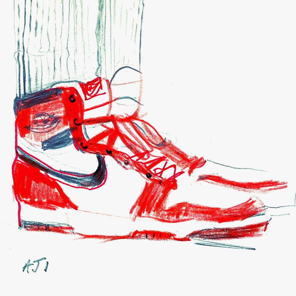 Original AJ1 Sketch