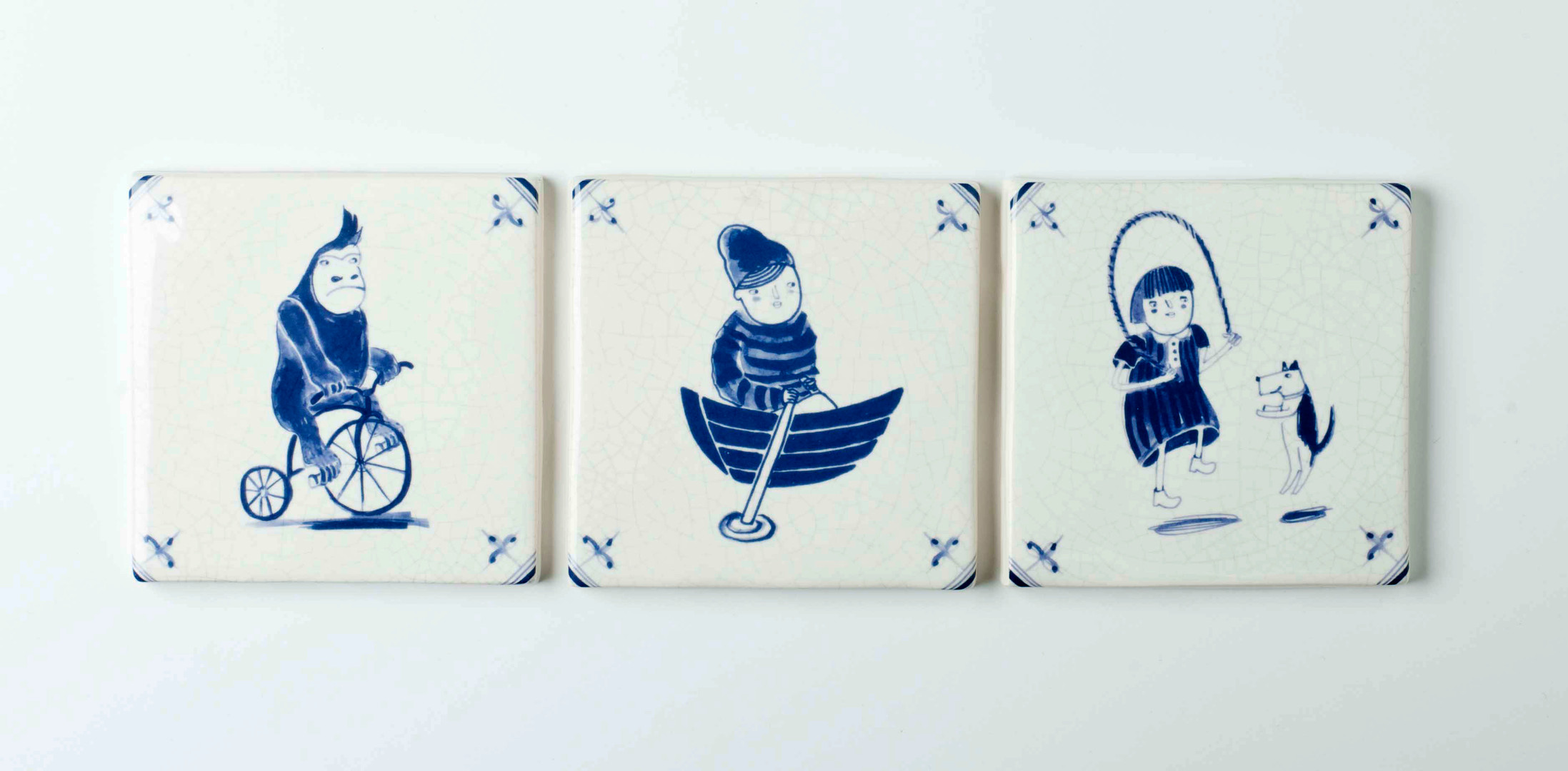 New Blauw, hand pressed tile collection