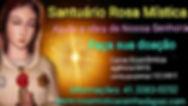 Santuário Rosa Mística. Ajude a Obra. Doações: Caixa Econômica agência 0416 conta poupança 122248-5 informações 4133830252