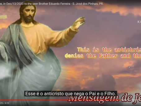 Jesus' message, on Dec, 13/2020 to the seer Brother Eduardo Ferreira - S. José dos Pinhais, PR