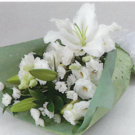 ホワイトのお供え花束