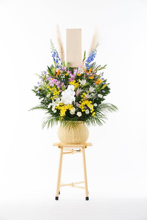1段式ダルマ篭生花SD-25