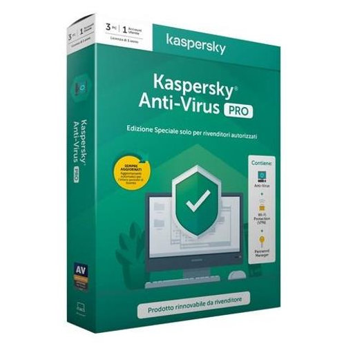 KASPERSKY ANTIVIRUS 3DT/1YR